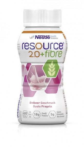 Nestlé Resource 2.0+fibre Erdbeer (4x200ml)