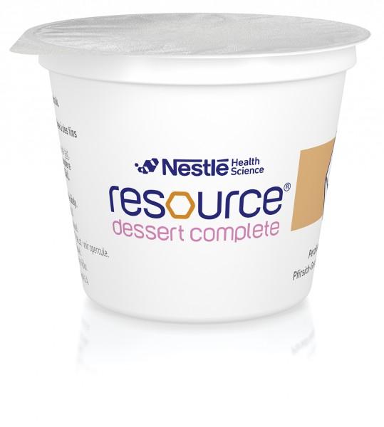 Nestlé Resource Dessert Complete Pfirsich (4x125g)