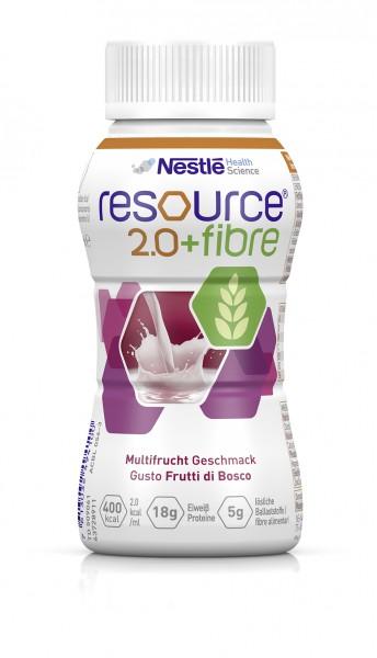 Nestlé Resource 2.0+fibre Multifrucht (4x200ml)
