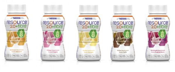 Nestlé Resource 2.0+fibre Mischkarton (6x4x200ml)